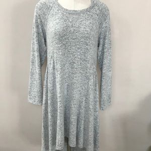 NWT MAURICES Heather Gray Hooded Hi Low Dress M